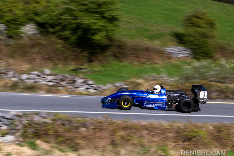 Sylvie Mullins at the Corkscrew Hillclimb in his Judd V8 Gould