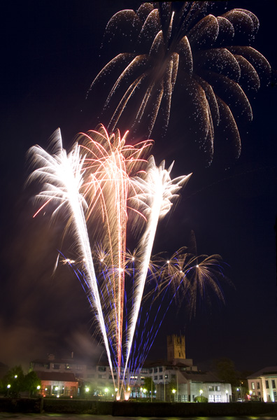 Fireworks over Curraghgower Falls