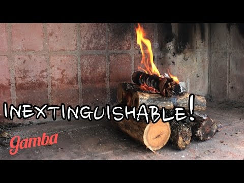 The easy way to light a fire – the self feeding/upside down method.