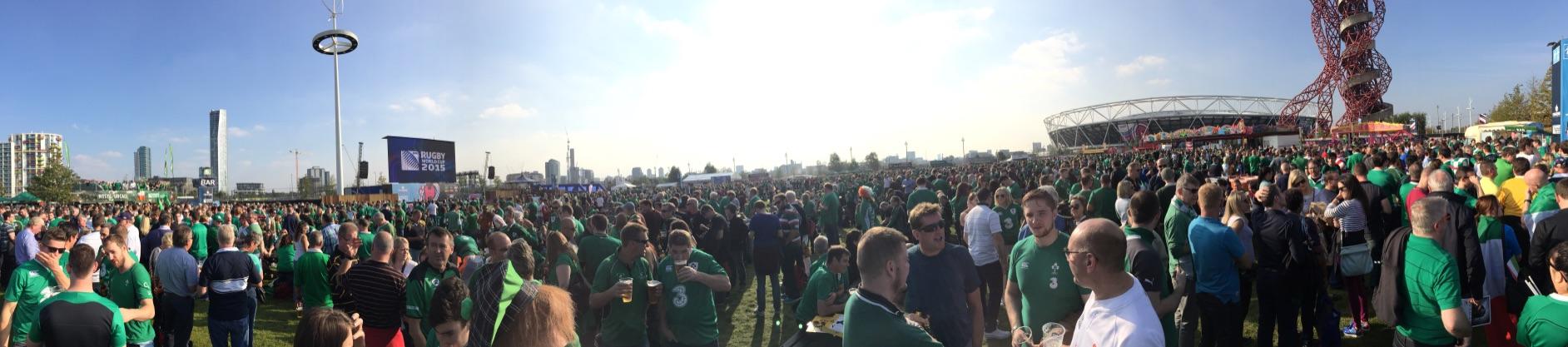RWC 2015 – IRL V ITA Fanzone